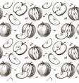 seamless background apples vector image vector image