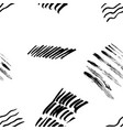 seamless pattern hand drawn with a brush strokes vector image vector image