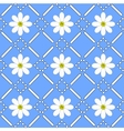 seamless pattern with chamomiles vector image vector image