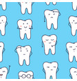 seamless pattern with funny teeth expressing vector image