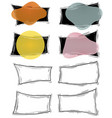 set geometric borders frames templates logo vector image