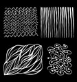 set hand-drawn wavy lines a textures vector image vector image