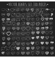 Set of hearts chalkboard blackboard vector image