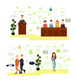 set of law court people symbols icons vector image