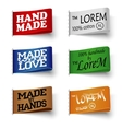 Set of textile labels vector image