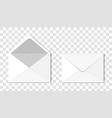 Set two blank realistic envelopes