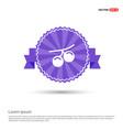 summer grape icon - purple ribbon banner vector image