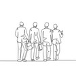 urban commuter workers concept one single line vector image vector image
