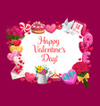 valentines day love holiday gifts and hearts vector image vector image