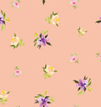Watercolor flower pattern vector image vector image