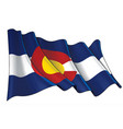 waving flag state colorado vector image