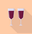 wine icon set of great flat icons with style vector image