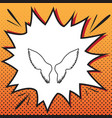 wings sign comics style icon vector image