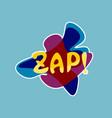 zap sticker social media network message badges vector image vector image
