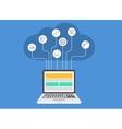 modern cloud computing infographics vector image