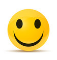 yellow happy face vector image