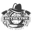 Top Secret Detective Print vector image