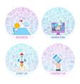 business concepts set 2 vector image
