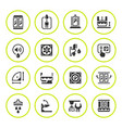set round icons of shower cabin vector image