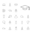 22 cap icons vector image vector image