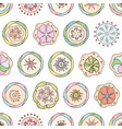 abstract seamless pattern in doodle style with vector image vector image