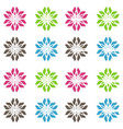 abstract seamless vivid colored floral pattern vector image