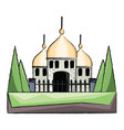arabian castle icon image vector image