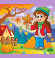 autumn thematic image 8 vector image vector image