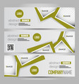 banner template abstract background vector image vector image