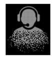 bright decomposed dot halftone operator icon vector image vector image