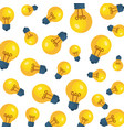 bulb light idea pattern background vector image