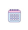 calendar data to organizer important things vector image vector image
