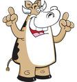 Cartoon cow with an idea vector image vector image