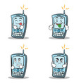 collection set of phone character cartoon style vector image vector image