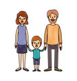 color crayon stripe cartoon family with father vector image vector image