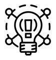 creative idea bulb icon outline style vector image