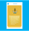 crops in hands mobile vertical banner design vector image
