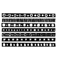 decorative border patterns collection vector image vector image
