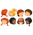 Different face of boys and girls vector image vector image