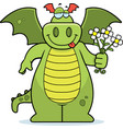 dragon flowers vector image