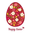 Easter egg from flowers with a text vector image
