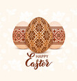 easter eggs with an ukrainian vector image vector image