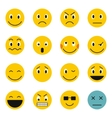 Emoticon icons set flat style vector image vector image