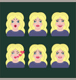 emotion icons character vector image