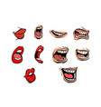 facial expression lips set vector image