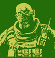 fat zombie soldier vector image vector image