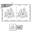 find 9 differences game flower 2 vector image vector image