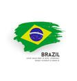 flag brazil brush stroke design isolated vector image