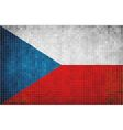 Flag of Czech vector image vector image