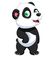 funny panda cartoon for you design vector image vector image